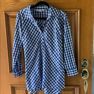 Gingham checked blouse